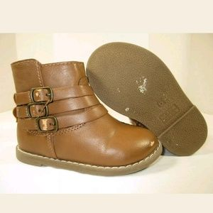 OLD NAVY COW GIRLS BROWN ZIPPERS BOOTSused